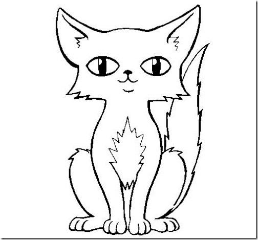 gato a colorear pintaryjugar  (17)