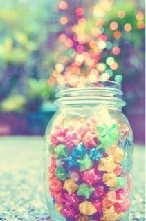 恋が叶う待受画像ガラスボトルに星形キャンディ
