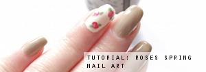 spring roses nail art
