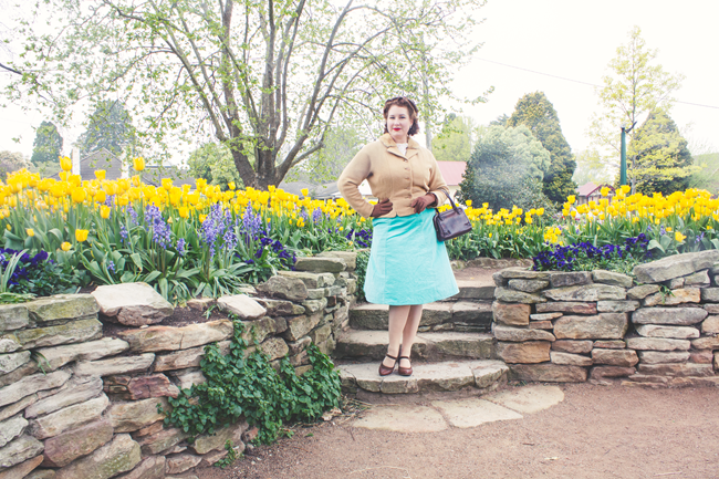 Vintage 1940's style for spring | Lavender & Twill