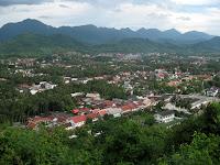 Hiking up Chomsy Hill - Luang Prabang