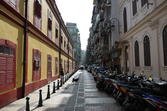 Portuguese style buildings in Macau