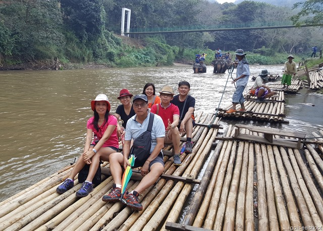 Traditional bamboo rafting in Chiang Mai