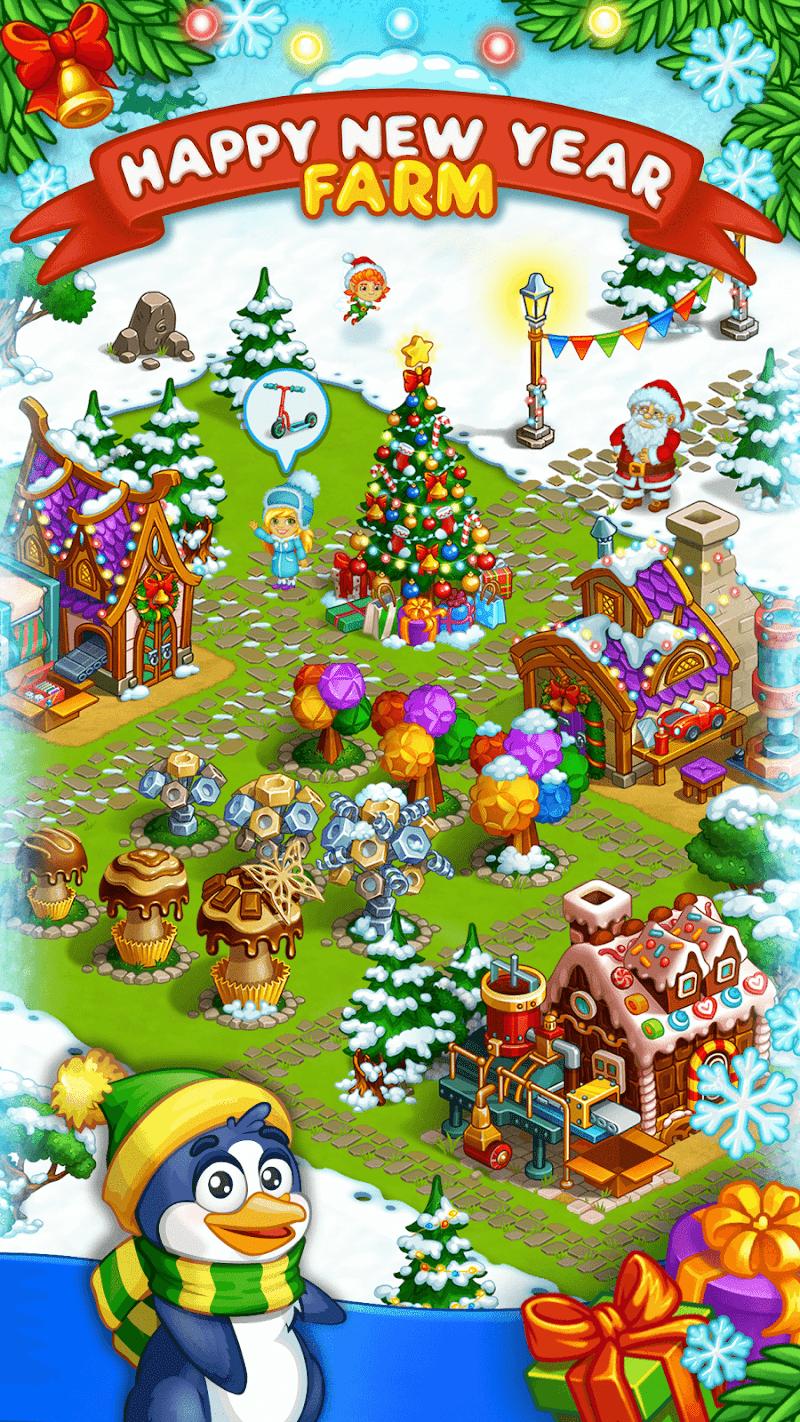 Farm Snow: Happy Christmas Story With Toys & Santa Screenshot 0