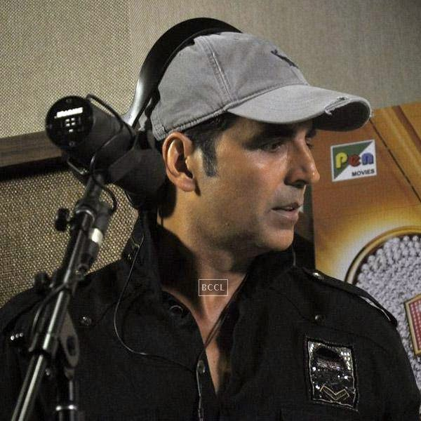 Akshay Kumar clicked during a song recording session for his movie Entertainment, in Mumbai, on July 23, 2014. (Pic: Viral Bhayani)