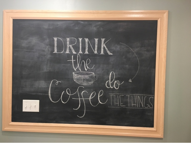 Building on Love - coffee chalkboard