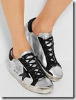 Golden Goose distressed metallic leather sneakers