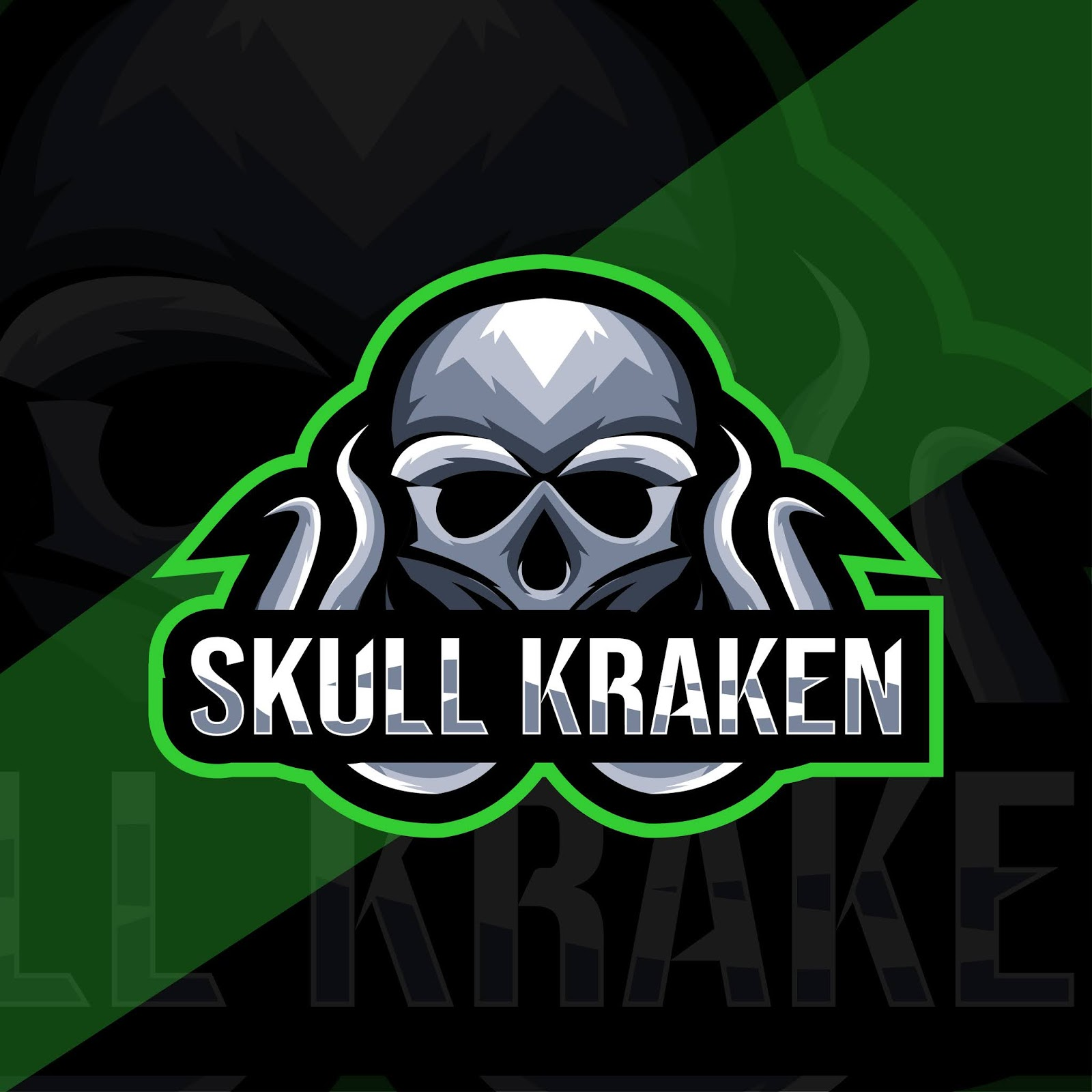 Skull Kraken Mascot Logo Template Free Download Vector CDR, AI, EPS and PNG Formats