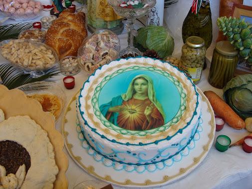 Cake for St Joseph Day altar