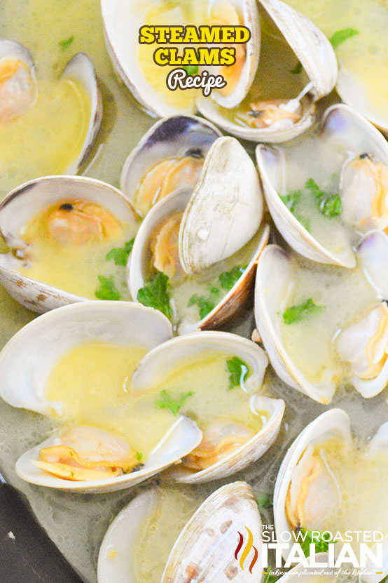 steamed clams with lemon and white wine