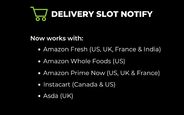 Delivery Slot Notify