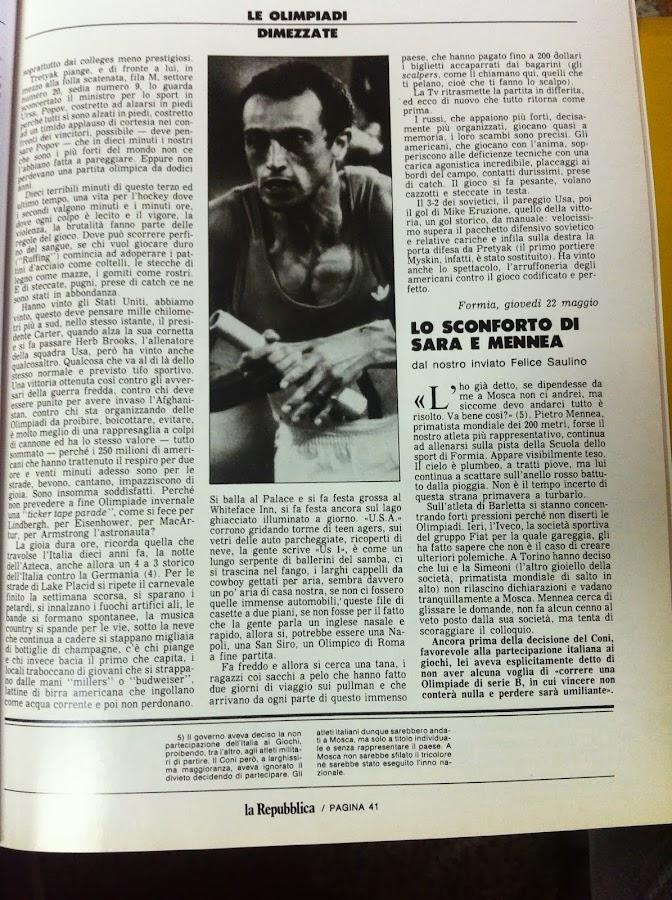 Leonardo Coen per La Repubblica. 24 febbraio 1980