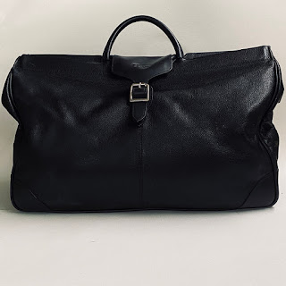 Longchamp Black Leather Weekend Bag