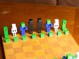 3D Minecraft Chess Set