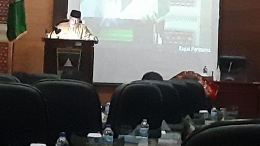 Jawaban Gubernur Terhadap Pandangan Umum Fraksi-Fraksi Menyangkut APBD-P Diparipurnakan