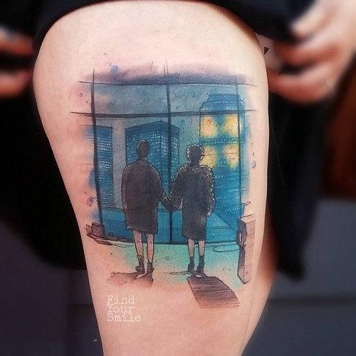 este_incrvel_clube_da_luta_aquarela_tatuagem