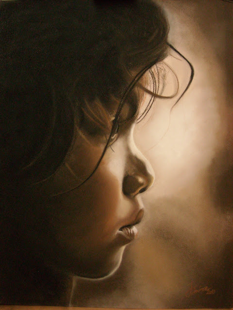 La nostalgia,retrato del pintor Oscar Jiménez