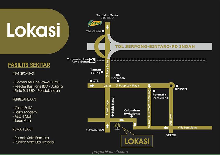 Peta Lokasi Cendana 88
