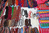 Necklaces at Oaxaca market (© 2010 Bernd Neeser)