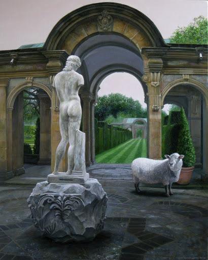 The Gardens at Hever. Artist Leslie Watts
