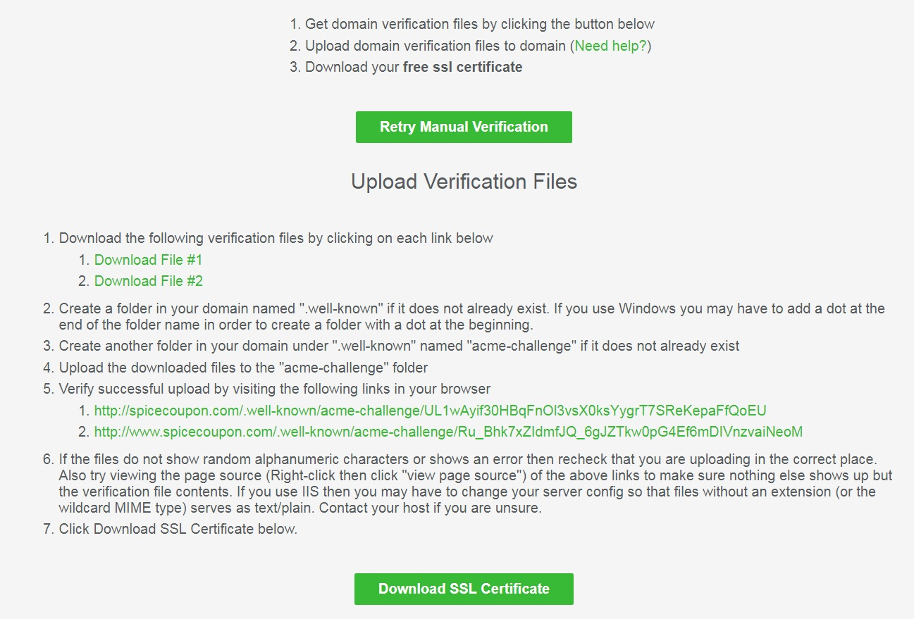 Upload Verification Files