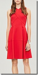 Roland Mouret Flared Crepe Dress