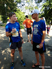 Tim and Cruger debriefing post-race.