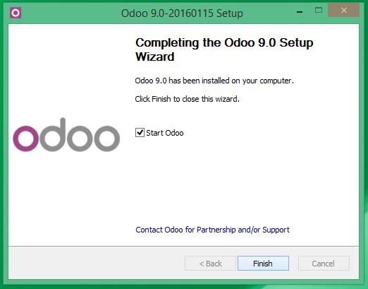 Iniciando el servicio de Odoo 9