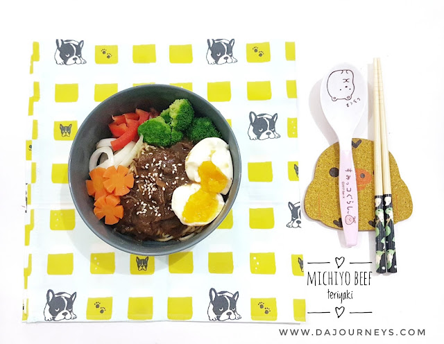 Review Michiyo Ramen Beef Teriyaki