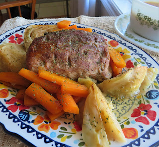 Pot Roasted Pork with Cabbage & Carrots
