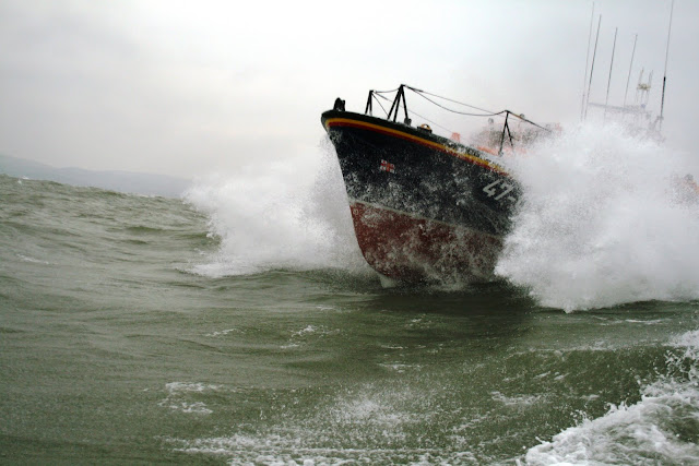 12 June 2011 - Poole's Tyne class lifeboat 'City of Sheffield' during rough weather training exercise