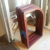 Furniture Refinishing: stained and ready for clear coats