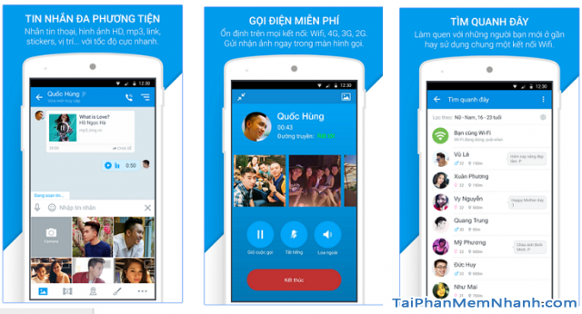 giới thiệu ứng dụng Zalo cho Android