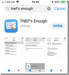 TNEF's Enough