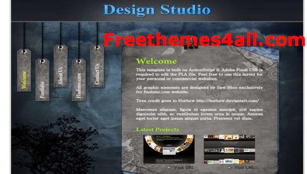 Free Flash Studio Design Photography Web2.0 Template