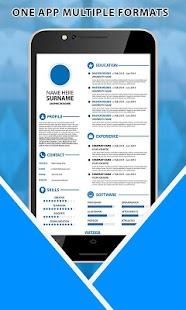 professional resume builder cv maker free 2017 screenshot thumbnail - Professional Resume Maker