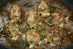 Local lamb meatballs.