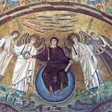 58. The apse mosaic. VI Century. The Basilica of San Vitale. Ravenna. 2013