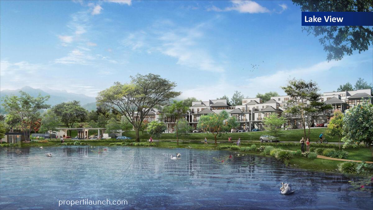Cluster Rosewood Golf Residence Sumbog - View Danau