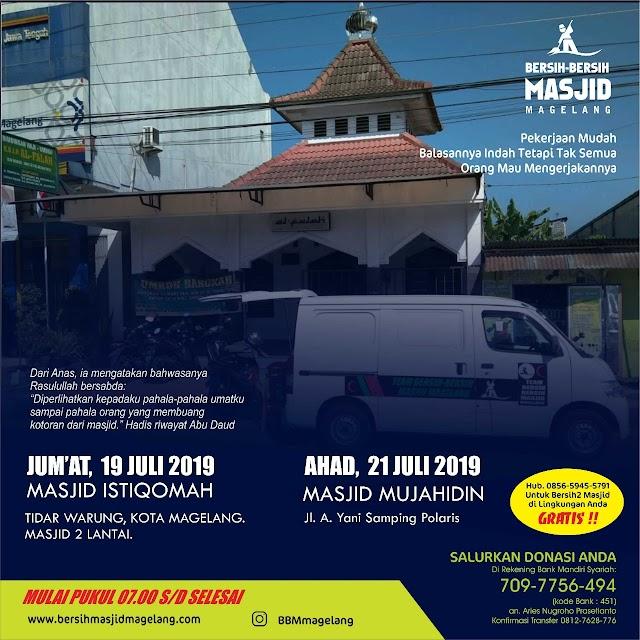 Bergabunglah dalam Kegiatan Bersih-Bersih Masjid Istiqomah Tidar warung, Jl. Beringin IV, Tidar Selatan, Kecamatan Magelang Selatan, Kota Magelang