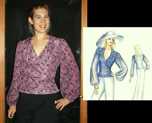 Marfy 1903: Wrap blouse (Anna Sui silk)