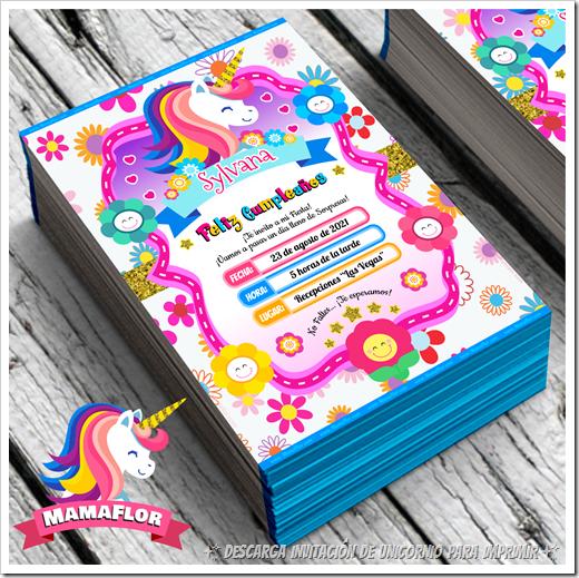 Imprimibles: Tarjeta de Cumpleaños de Unicornio GRATIS!