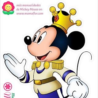 Molde: Mickey Mouse Rey Príncipe - Tamaño A4
