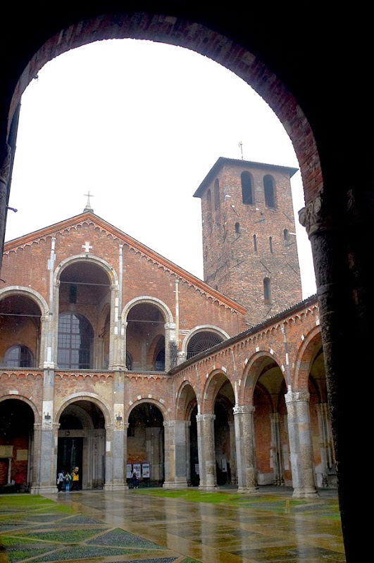 92. The Basilica of Sant'Ambrogio. IV Century. Milan. 2013