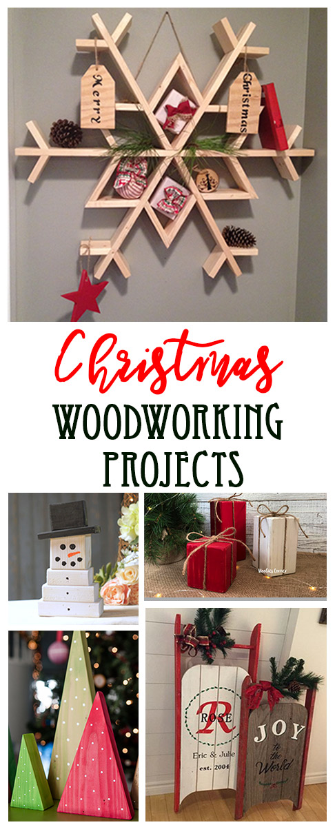 Easy Christmas woodworking projects.  15 ideas that you can build out of wood for the holiday season. Easy woodworking projects all the way to more complex carpentry!