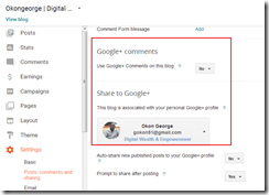 How to connect your Google  with Blogger