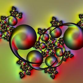 Dancing by Cassy 67 - Illustration Abstract & Patterns ( ball, swirl, wallpaper, bubbles, round, spiral, circle, balloon, digital, bubble, abstract art, digital art, fractal, fractals )
