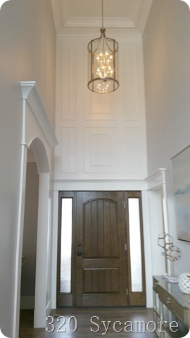 entryway wall treatment