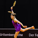 STUTTGART, GERMANY - APRIL 16 : Antonia Lottner in action at the 2016 Porsche Tennis Grand Prix