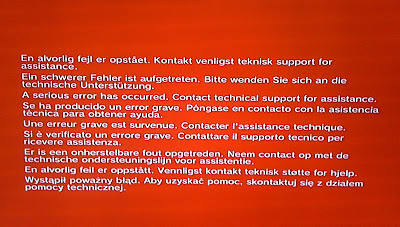 Image result for red screen of death ps3
